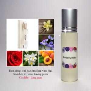 Tinh dầu nước hoa Body by Burberry