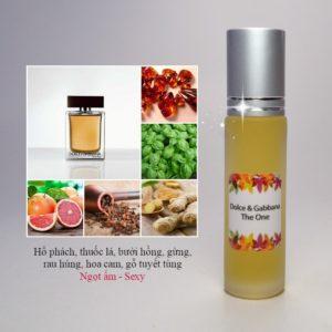 Tinh dầu nước hoa The One for men by D&G