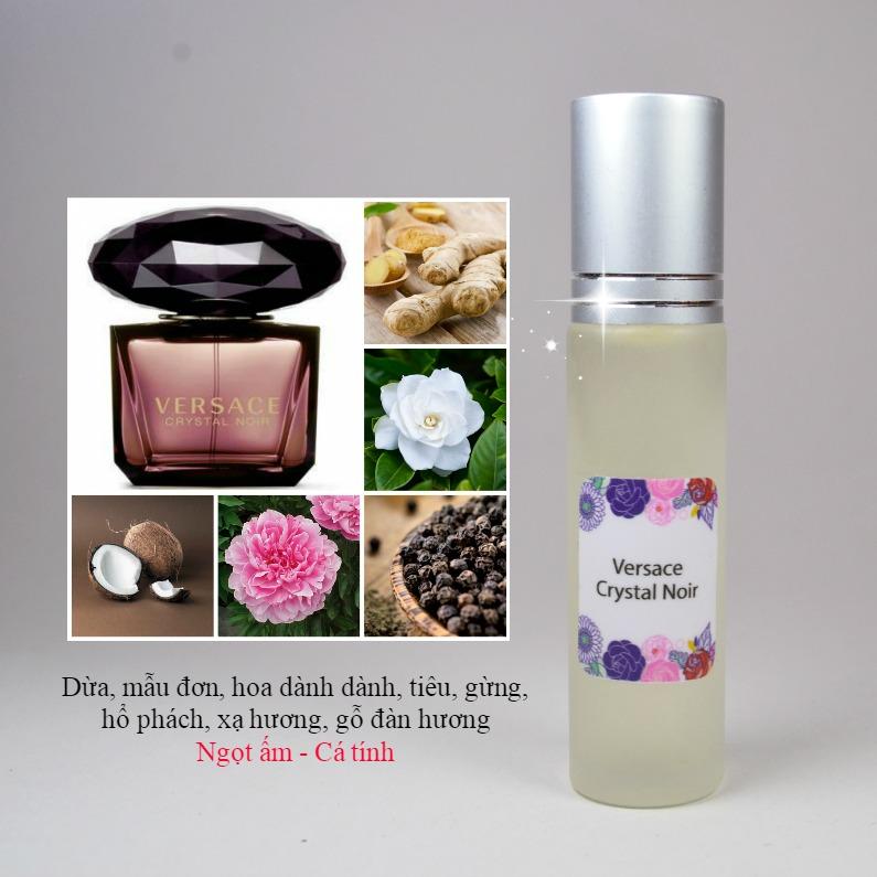 Tinh dầu nước hoa Crystal Noir by Versace