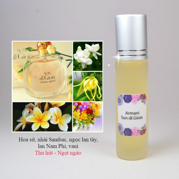 Tinh dầu nước hoa Sun di Gioia