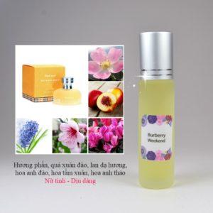 Tinh dầu nước hoa Weekend by Burberry