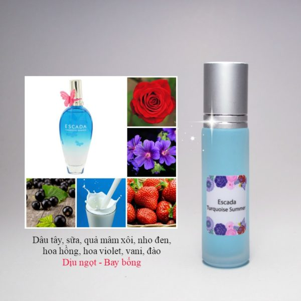 Tinh dầu nước hoa pháp Turquoise Summer