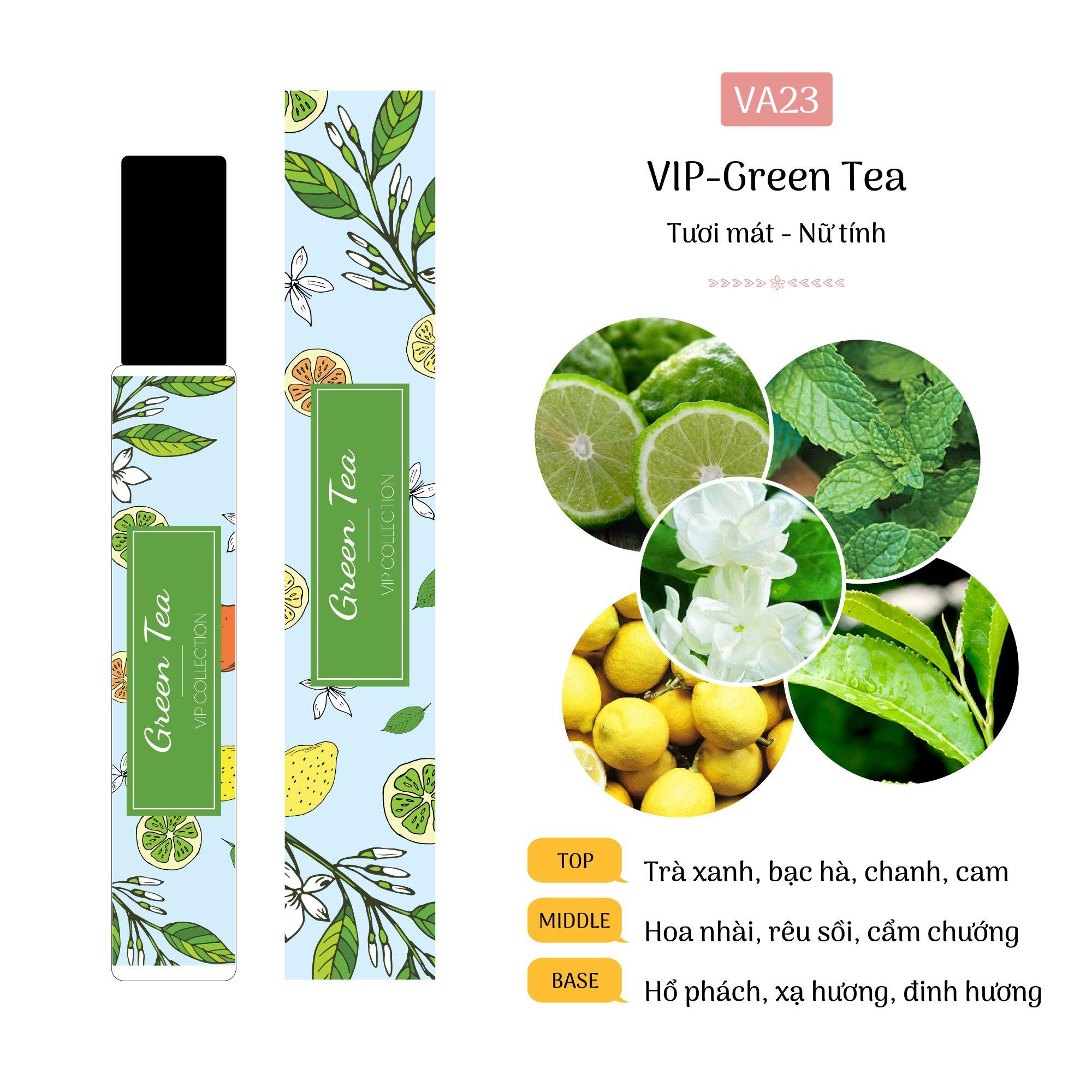 Tinh Dầu Nước Hoa Pháp Green Tea